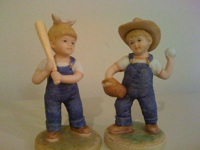 Home interior denim days let 39 s play ball figurine with Home interiors denim das