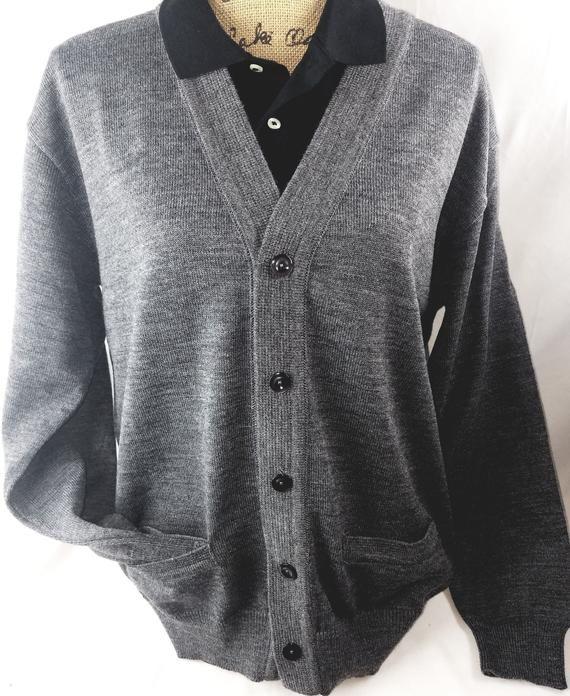 663ecbd08e Men's Cardigan Light Grey V neck Sweater #men #fashion #cardigan #sweaters  #outfits #office #classy