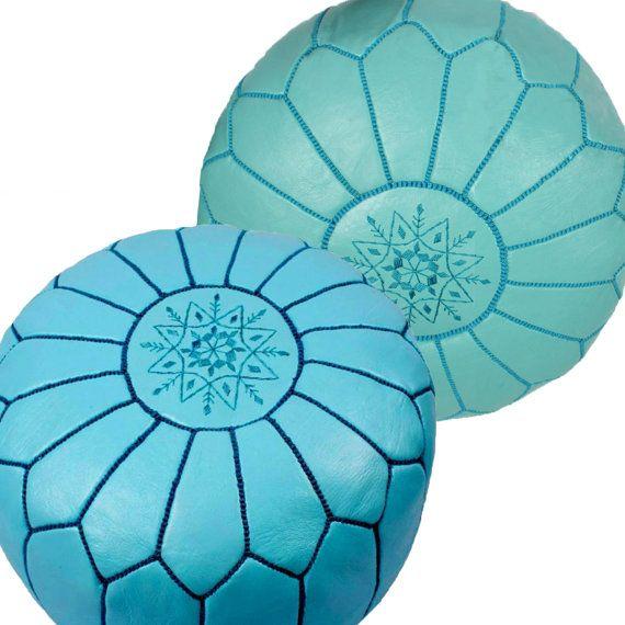 ensemble pouf cuir marocain, serie en pouf marocain, envoie express décoration intérieure pouf cuir pouf traditionnel pouf marocain pas cher