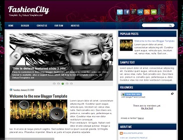FashionCity Blogger Template