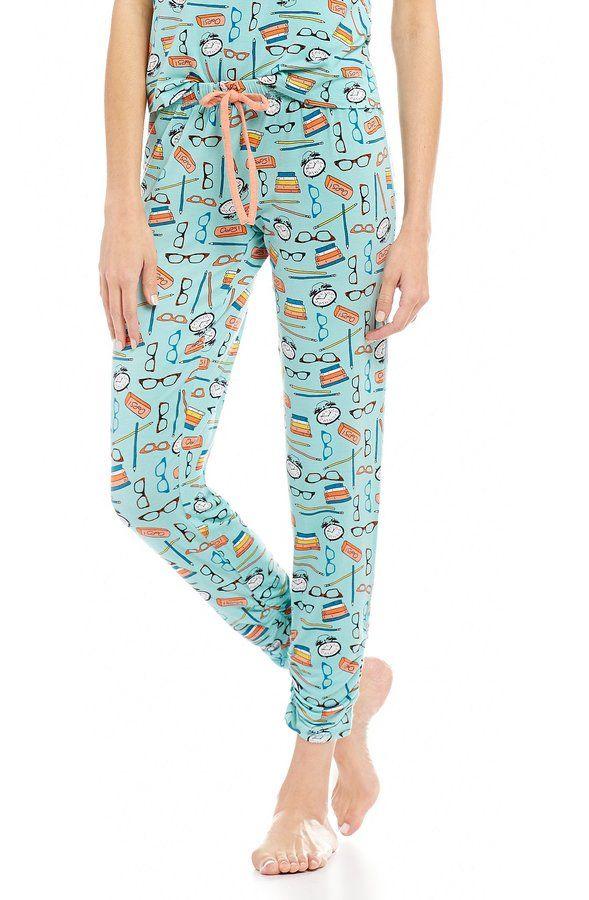 Jasmine & Ginger School Things Ruched-Cuff Sleep Pants