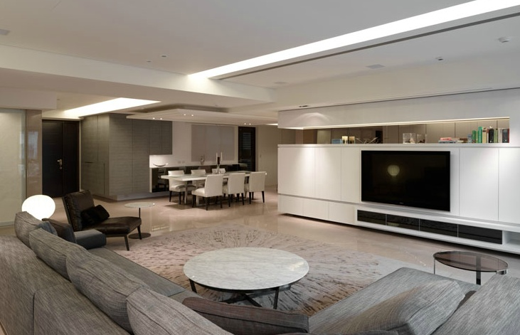 TV wall and storage