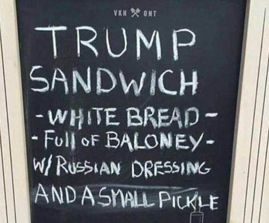 Welcome to Linda Ikeji's Blog: Who wants a Trump Sandwich?