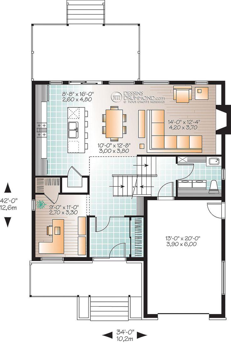 Zen / Contemporain | W3470 | Maison Laprise - Maisons pré-usinées