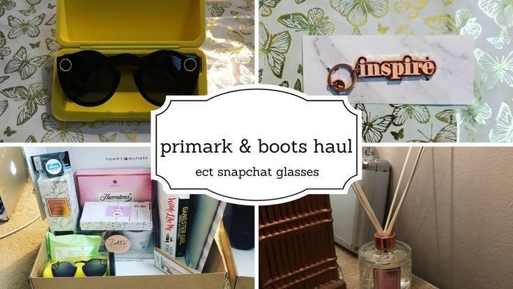 primark boots haul ect snapchat glasses