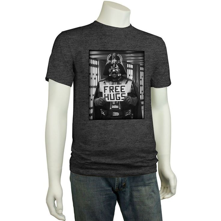 details about star wars darth vader free throat hugs funny t shirt dark side anakin skywalker. Black Bedroom Furniture Sets. Home Design Ideas