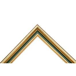 Cottage Garden är en ram med en härlig kombination av guld och grönt. För tankarna till julens färger, men även det rojalistiska. Passar alla typer av tavlor där man söker en spännande kombination av färger. Ett vanligt val hos våra konstnärer. Svensk tillverkning och kvalité. Bredd: 28 mm. Höjd: 20 mm. Falsdjup: 6 mm.