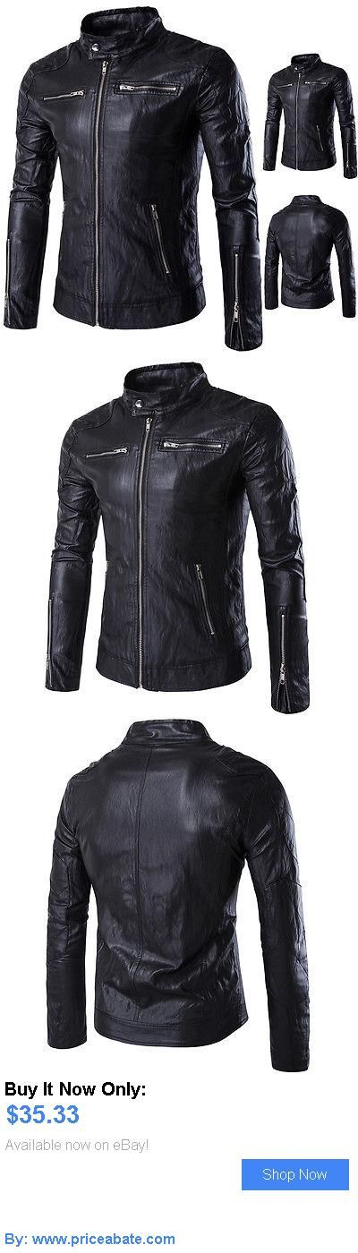 Men Coats And Jackets: Mens Fashion Jackets Collar Slim Motorcycle Leather Jacket Coat Outwear Hot BUY IT NOW ONLY: $35.33 #priceabateMenCoatsAndJackets OR #priceabate