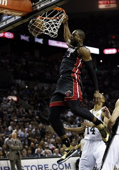 Dwyane Wade Dunks in Game 4 of the 2013 NBA Finals