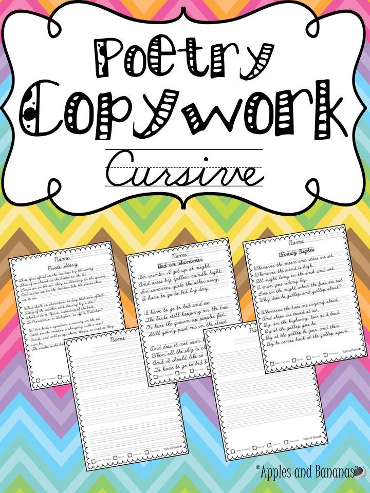cursive copywork poetry handwriting practice gardens cursive handwriting and models. Black Bedroom Furniture Sets. Home Design Ideas