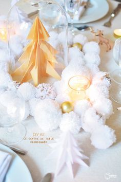 DIY tuto décoration de table de Noël enchanté | Madame Citron - Blog de créations et DIY
