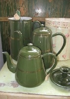 enamelware in green