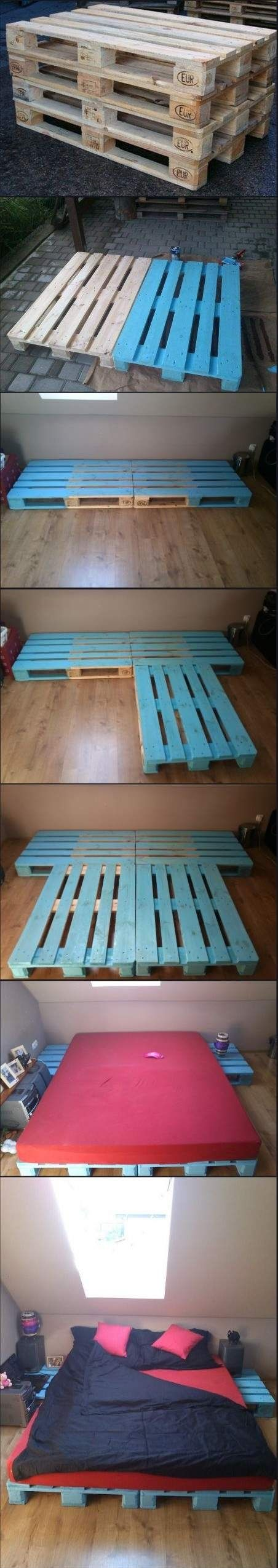 5. Pallet Bed - TOP 10 Creative Ways To Recycle Wooden Pallets