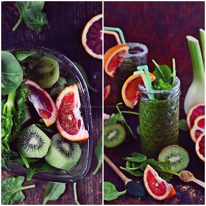 Smaki Alzacji : Najlepsze smoothie szpinakowo cytrusowe