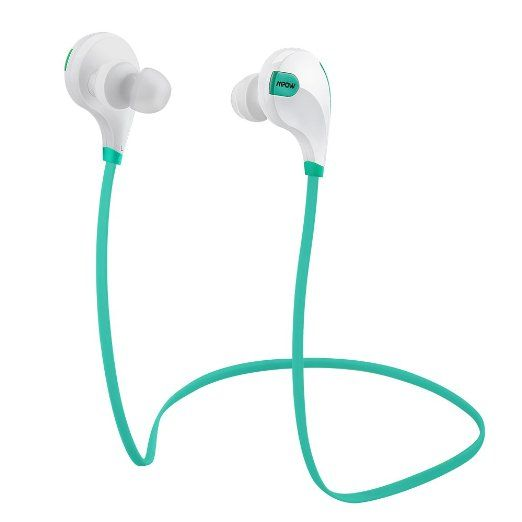 Mpow® Swift Bluetooth 4.0 Wireless Sport Headphones Sweatproof Stereo Bluetooth Earbuds Earphones Car Hands-free Headsets W/microphone [ for Sports / Running / Gym / Exercise ] with High-fidelity Stereo Sound via apt-X (Green) #tech #accessories See detail at http://zingxoom.com/d/cwHHJ73Q