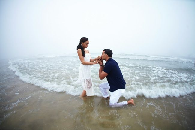 Sunny Galveston Island Engagement Shoot by CivicPhotos