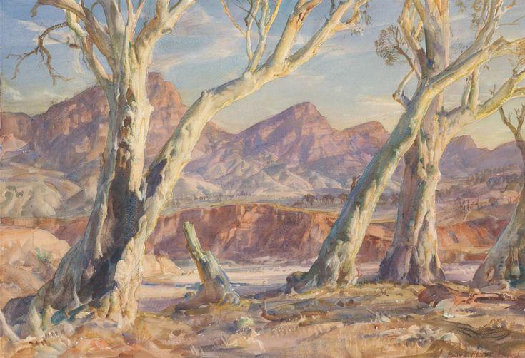 Flinders Ranges landscape - Hans Heysen
