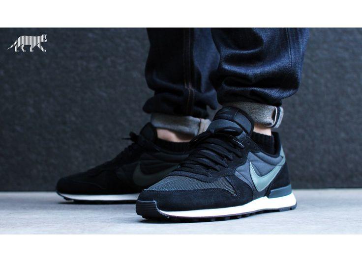 Nike Internationalist (black / dark mica green - sail - anthracite) | S h o  e s | Pinterest | Nike internationalist