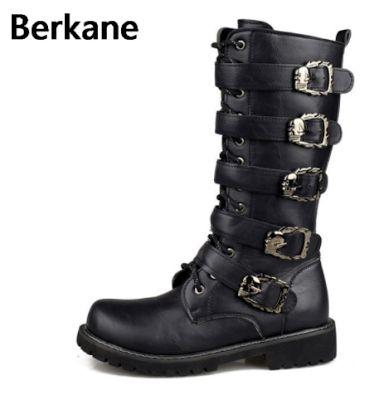 Berkane. Армейские мужские ботинки с металлическими пряжками. Мотоциклетные сапоги в стиле «панк». Мужская обувь Zapatillas Deprtivas Hombre.