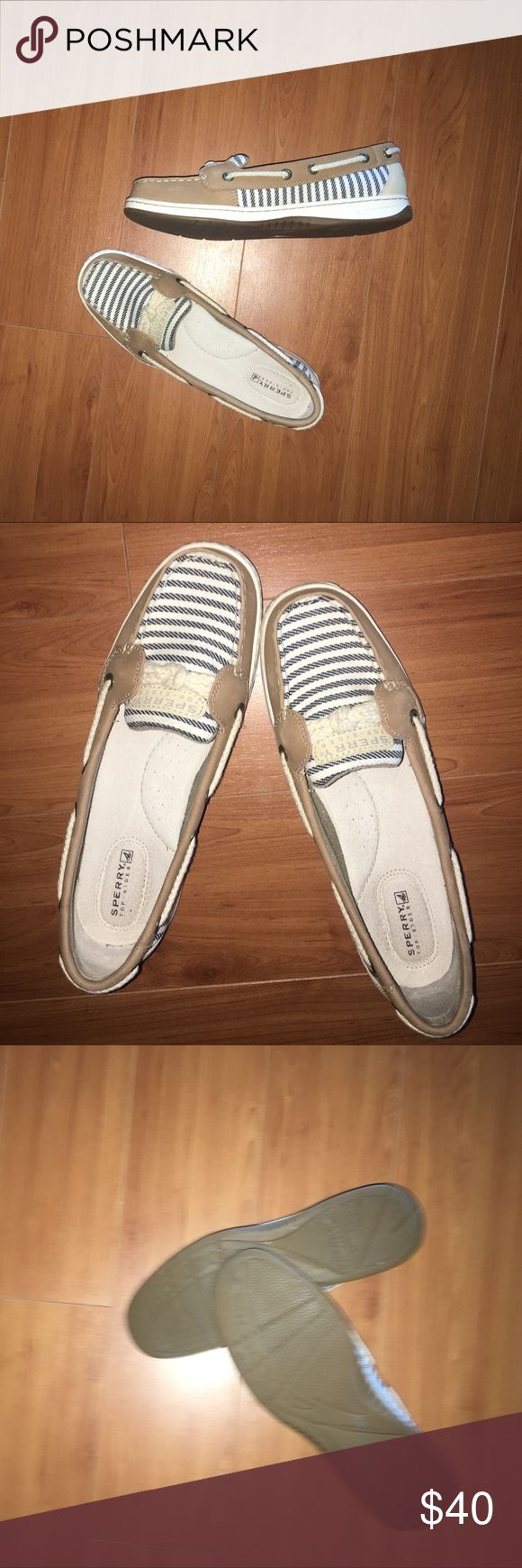 Sperry Top Sider Blue and white Stripe with Rope Detailing Sperry Top-Sider Shoes Flats & Loafers