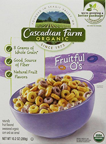 Cascadian Farm Cereal Organic Cereal, Fruitful O's, 10.2 Ounce - http://goodvibeorganics.com/cascadian-farm-cereal-organic-cereal-fruitful-os-10-2-ounce/