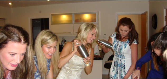 Hen Party cocktail making classes in Manchester www.hireabarman.com
