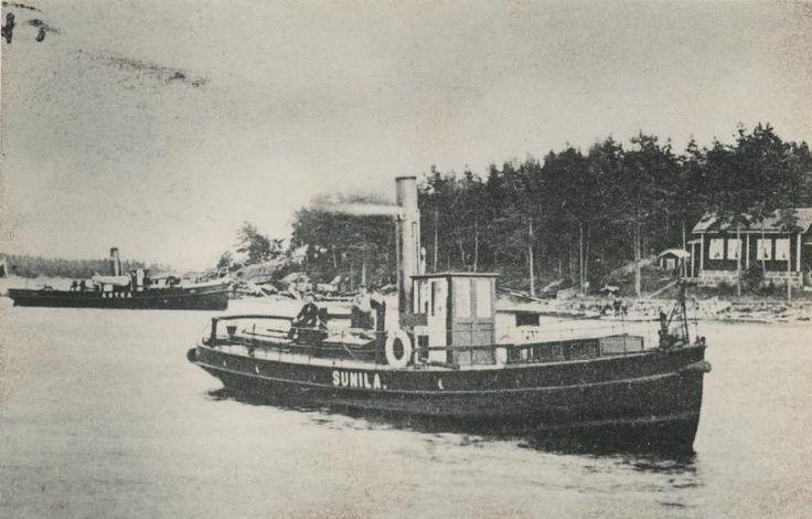 Sunila, Hackmanin arkisto #höyrylaivat #steamboat