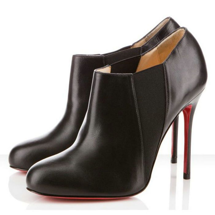 Christian Louboutin Ankle Boots 100mm Black Leather sale
