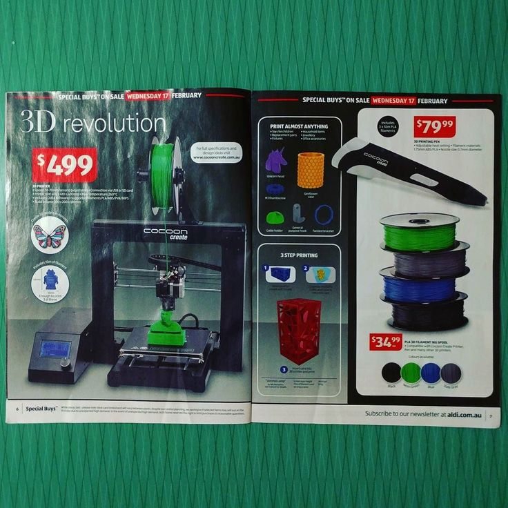 Three words: Aldi 3D Printer  #aldi @aldiaustralia #3dprinter #3dprinting #aldicatalogue #cheap #jeeperscheapers by haylstorm