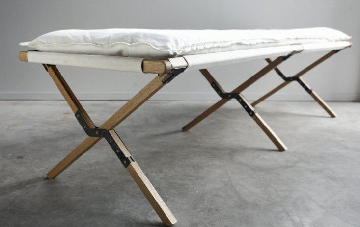 A summer essential: the canvas cot. Add a few pillows and throws and it becomes an instant daybed. Here are 10 we're admiring (plus sourcing details).