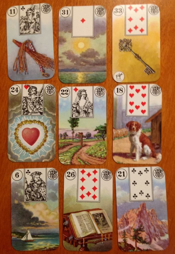 78 Best Images About Lenormand Kaarten