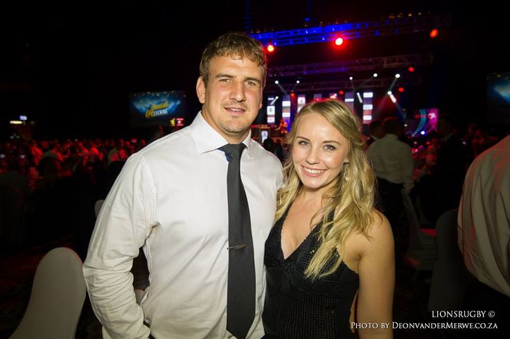 Ruan Dreyer with his wife attending the Lions Rugby Group Awards Function.  #LeyaTheLion #Liontainment #Lions4Life #BeThere #MyLionsMoment #LionsAwardsNight2017