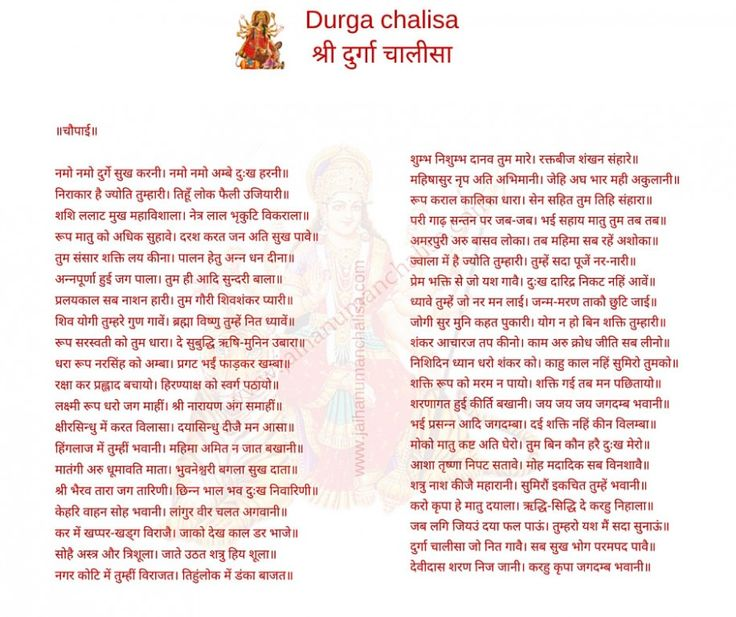 Durga chalisa in hindi english with meaning दरग