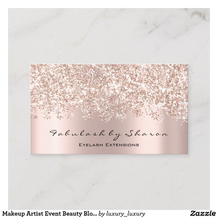 Makeup Artist Event Beauty Blogger Glitter VIP Business Card | Zazzle.com
