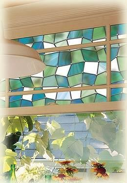 For the bathroom window... There are also a few more designs... Stained glass sticker films!