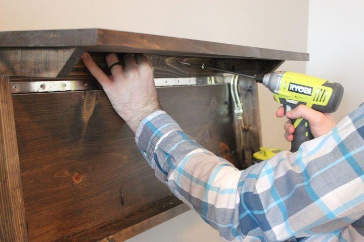 Diy secret floating shelf free plans shelves storage for Diy hidden storage