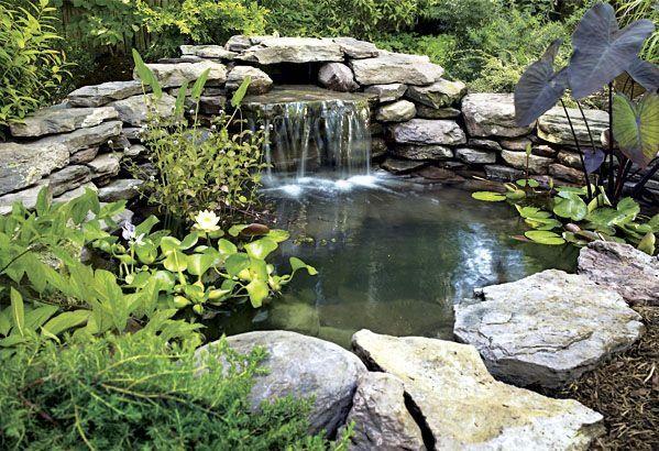Садовый водопад своими руками
