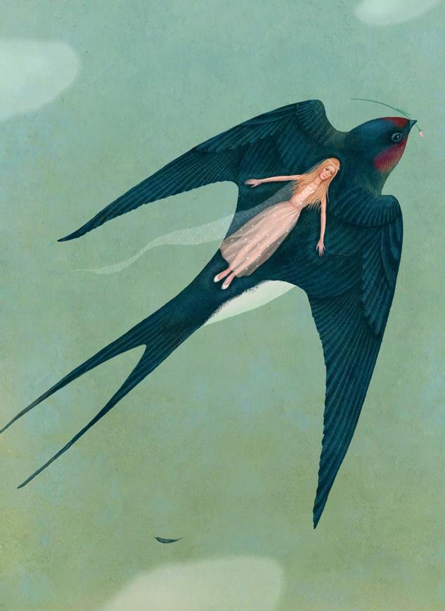 Illustration by Galya Zinko (Галя Зинько), Thumbelina by Hans Christian Andersen.