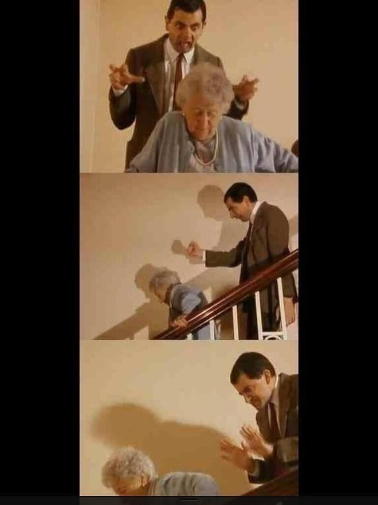 When people walk slowly in front of me.