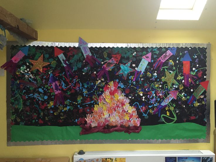 An Early Years 'Bonfire Night/fireworks' display from Kate's class.