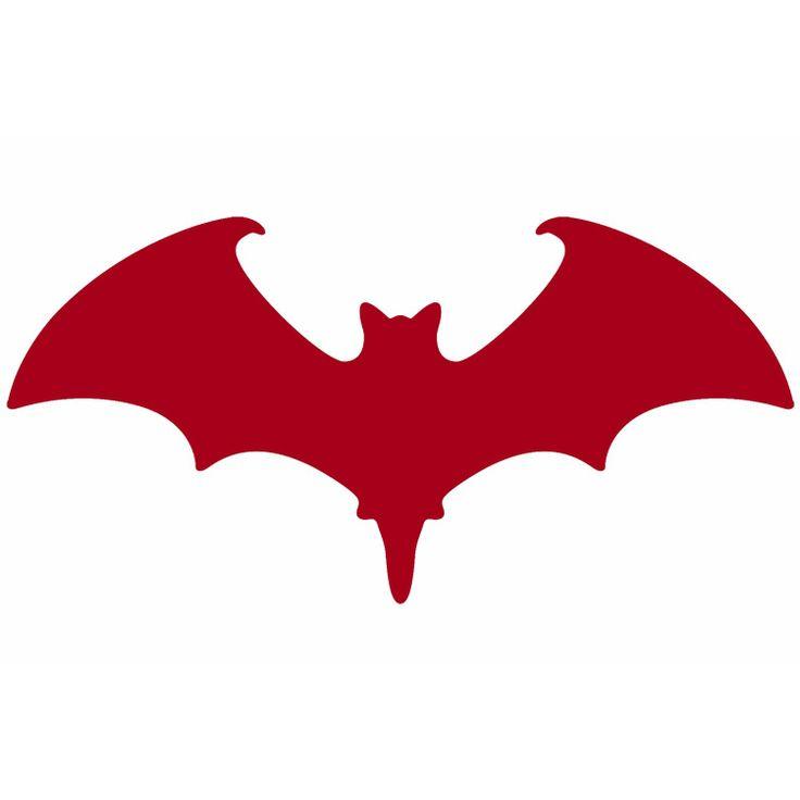 Dysfunctional Doll Red Gothic Vampire Bat Sticker Vinyl