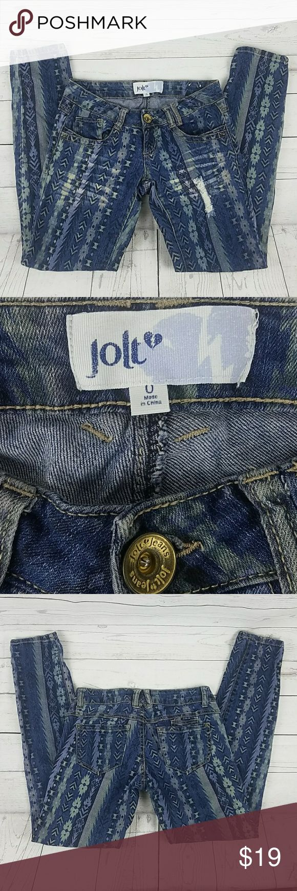 Jolt Jean's Skinny Size 0 Women's Jolt Jean's are in good condition. Gently used. Skinny Size 0 Inseam 28 Rise 6 inches  Waist 13 1/2 Jolt Jeans Skinny