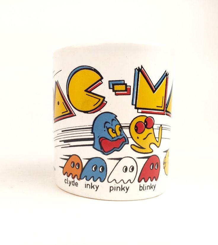 A personal favorite from my Etsy shop https://www.etsy.com/listing/268383992/pac-man-mug-by-staffordshire-kiln-craft