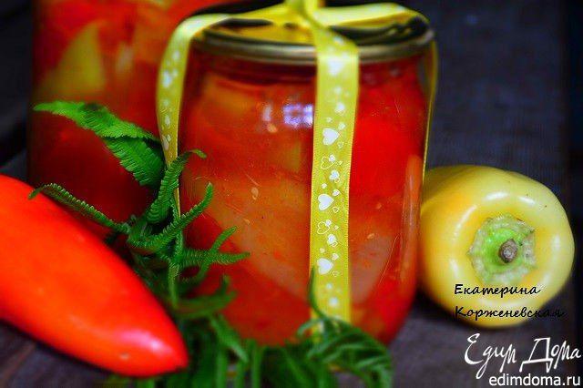 Перец по-одесски. Вкусный, сладкий и хрустящий перчик в пикантном томатном соусе. #edimdoma #cookery #recipe