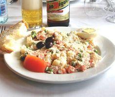Russische salade op de Spaanse manier