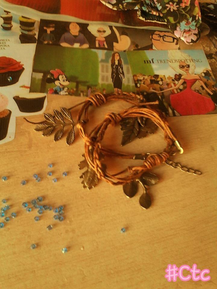 wonderful leaf bracelet... 6$ #ctc #collection #leaf #bracelet