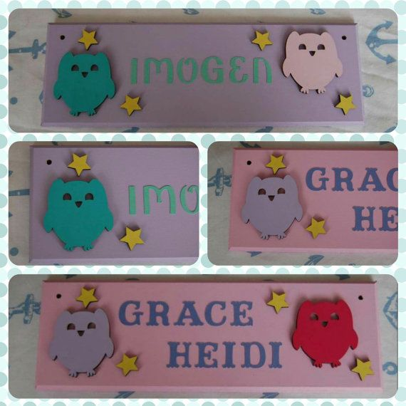 Owl Baby / Children's Bedroom Door Name plaque by FairylandDecor