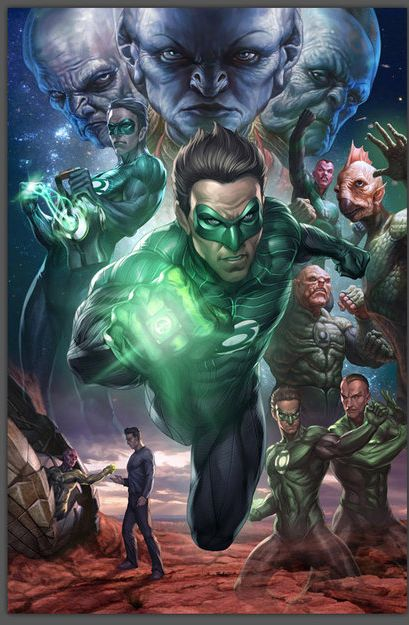 Green Lantern Oath  In brightest day, In blackest night, No evil shall escape my sight. Let those who worship evil's might, Beware my power, Green Lantern's light!!!