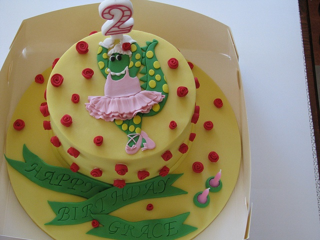 Dorothy the Dinosaur Cake, via Flickr.