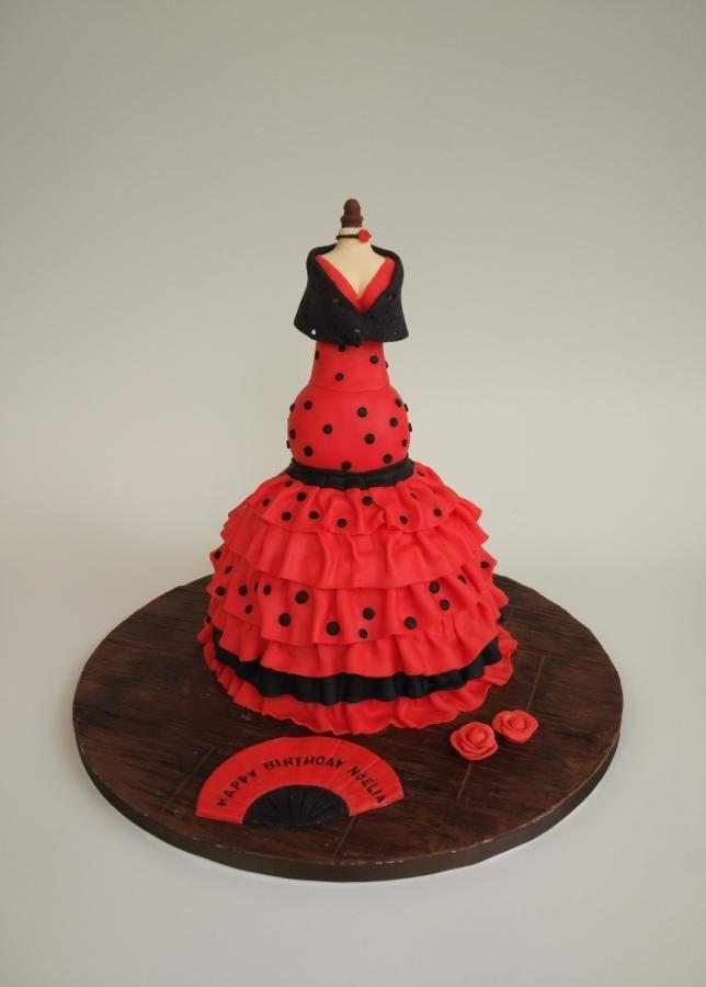 3D flamenco doll - cake by nef_cake_deco